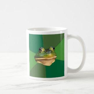 カスタムな汚れた独身のカエルのコーヒー・マグ コーヒーマグカップ