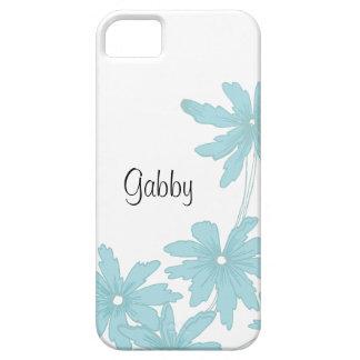 カスタムな淡いブルーのデイジーのiPhone 5の穹窖 iPhone SE/5/5s ケース