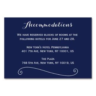 カスタムな濃紺の結婚式の調節カード カード