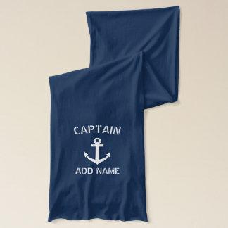 カスタムな濃紺の航海のないかりのボートの大尉 スカーフ