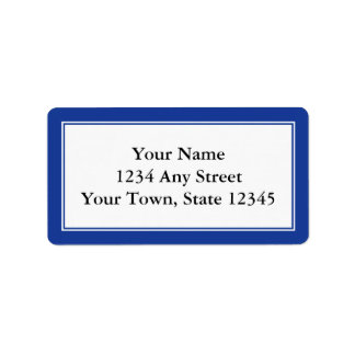 カスタムな濃紺及び白の封筒の宛名ラベル ラベル