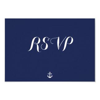 カスタムな濃紺航海のな結婚RSVPカード 8.9 X 12.7 インビテーションカード
