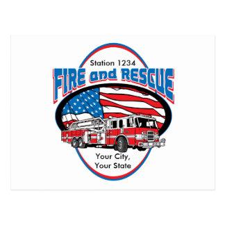 カスタムな火および救助 ポストカード