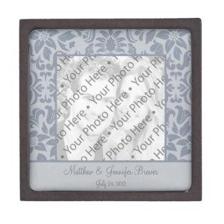 カスタムな灰色の写真の結婚祝いの記念品箱 ギフトボックス