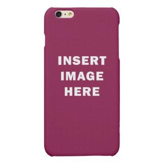 カスタムな無光沢のiPhone 6のプラスの場合のテンプレートDIY