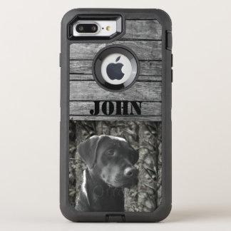 カスタムな猟犬の素朴なオッターボックスの場合 オッターボックスディフェンダーiPhone 8 PLUS/7 PLUSケース