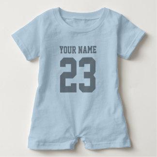 カスタムな男の子のスポーツのフットボールのjerseyの赤ん坊のロンパース ベビーロンパース