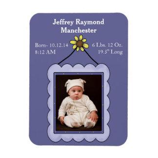 カスタムな男の赤ちゃんの写真の誕生の発表の磁石 マグネット