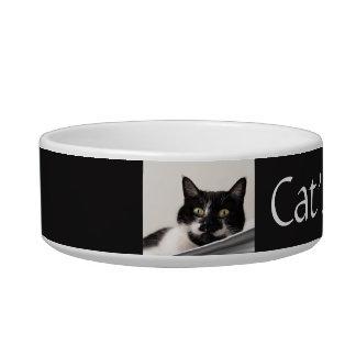 カスタムな白黒タキシード猫のペットボウル ボウル