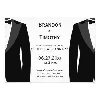 カスタムな白黒陽気な結婚式招待状 カード