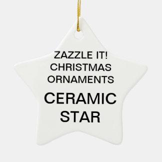 カスタムな磁器の星のクリスマスツリーのオーナメント セラミックオーナメント