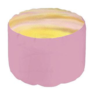 カスタムな等級のAによって編まれる綿のラウンドパフの薄紫 プーフ