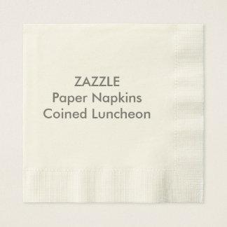 カスタムな紙ナプキンのベージュ色によって鋳造される昼食会 縁ありランチョンナプキン