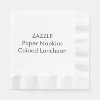 カスタムな紙ナプキンの白によって鋳造される昼食会 縁ありランチョンナプキン