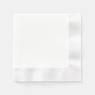 カスタムな紙ナプキン-鋳造された白 縁ありカクテルナプキン