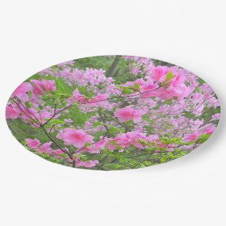 カスタムな紙皿ピンクAZALEAS/PHOTOG. ペーパープレート