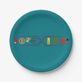 カスタムな紙皿7 (ターコイズ) Forexisti著 ペーパープレート