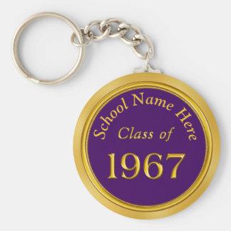 カスタムな紫色、金ゴールド1967個の高等学校の懇親会のギフト キーホルダー