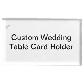 カスタムな結婚式のテーブルカードホルダー