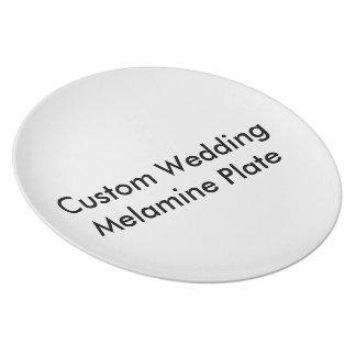 カスタムな結婚式のメラミンプレート お皿