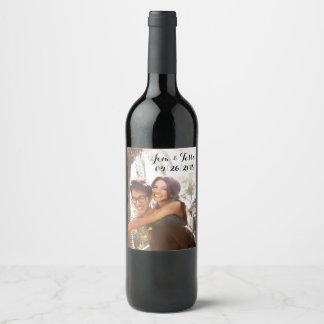 カスタムな結婚式のワインのラベル ワインラベル