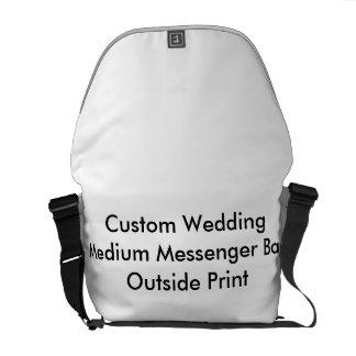 カスタムな結婚式の中型のメッセンジャーバッグの外プリント クーリエバッグ