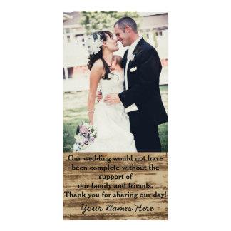 カスタムな結婚式の写真のサンキューカード カード