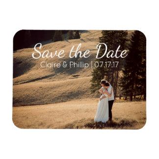 カスタムな結婚式の写真|の保存日付 長方形マグネット