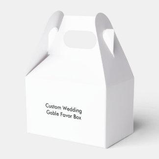 カスタムな結婚式の切り妻の好意箱 フェイバーボックス