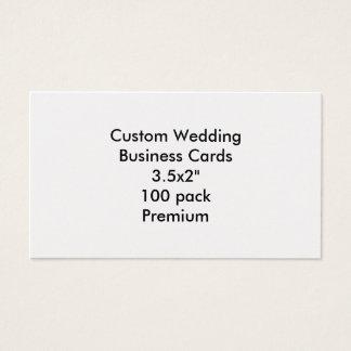 """カスタムな結婚式の名刺3.5x2"""" 100の報酬 名刺"""