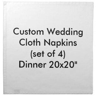 カスタムな結婚式の布のナプキンは4夕食の20x20置きました ナプキンクロス