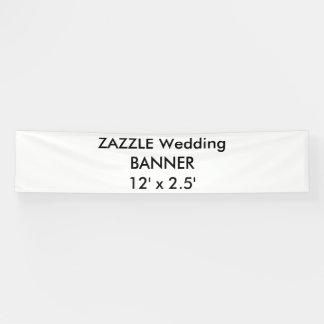 カスタムな結婚式の旗12' x 2.5' 横断幕