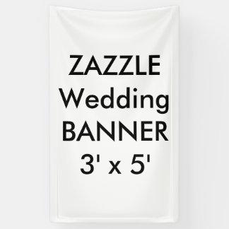 カスタムな結婚式の旗3' x 5' 横断幕