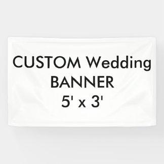 カスタムな結婚式の旗5' x 3' 横断幕