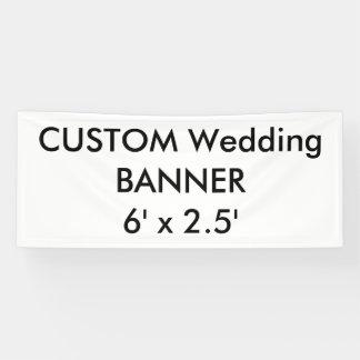 カスタムな結婚式の旗6' x 2.5' 横断幕