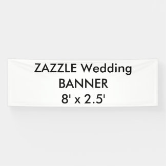 カスタムな結婚式の旗8' x 2.5' 横断幕