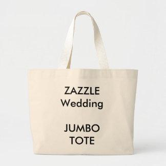 カスタムな結婚式の自然な大きいジャンボ戦闘状況表示板の買い物袋 ラージトートバッグ