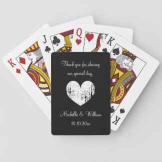 カスタムな結婚披露宴はカードを遊ぶ好意感謝していしています トランプ