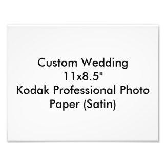 """カスタムな結婚11x8.5""""コダックのプロ写真の紙のサテン 写真アート"""