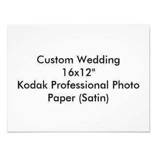 """カスタムな結婚16x12""""コダックのプロ写真の紙 フォトプリント"""