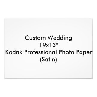 """カスタムな結婚19x13""""コダックのプロ写真の紙のサテン フォトプリント"""