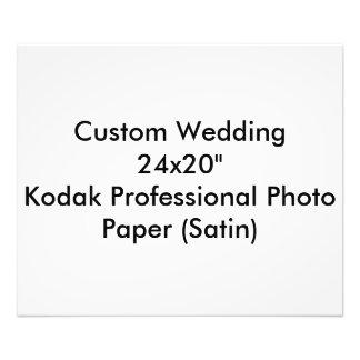 """カスタムな結婚24x20""""コダックのプロ写真の紙 写真アート"""