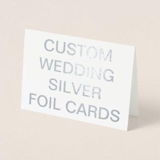 カスタムな結婚7x5名前入りな銀ぱくカード 箔カード