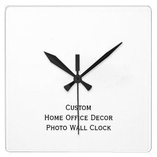 カスタムな総本店の装飾の写真の柱時計を作成して下さい スクエア壁時計