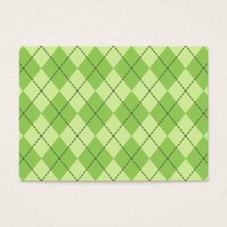 カスタムな緑のレトロのアーガイル柄のな名刺 名刺