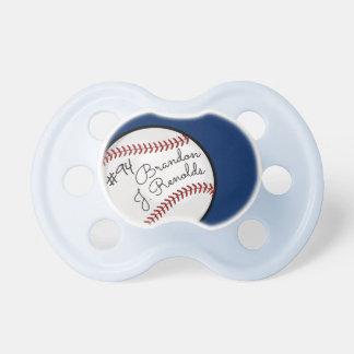 カスタムな署名の野球のプロ青 おしゃぶり