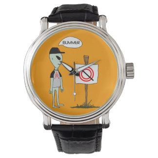 カスタムな腕時計を与えられる穀物の円無し 腕時計