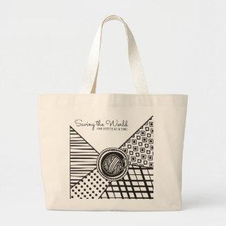 カスタムな色によって混合されるパターンヤーンの編み物のかぎ針編み ラージトートバッグ