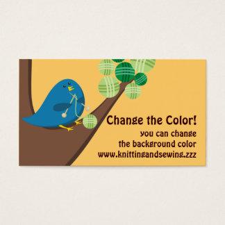 カスタムな色のかわいく青い鳥の編み物針はまいはだを詰めます 名刺
