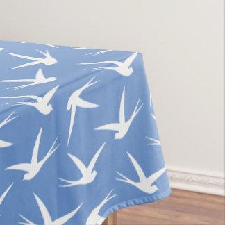 カスタムな色のつばめの飛ぶ鳥パターン テーブルクロス